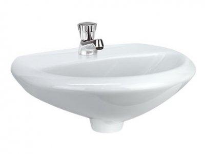 Lavamanos ceralux de empotrar materiales emo s a s for Precio de lavamanos